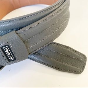 Nike | Gray G-Flex Leather Belt